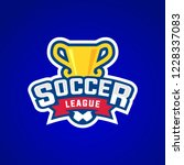 soccer league badge graphic... | Shutterstock .eps vector #1228337083