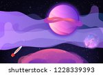 horizontal space background... | Shutterstock .eps vector #1228339393