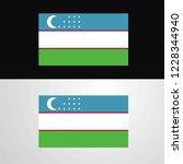 uzbekistan flag banner design   Shutterstock .eps vector #1228344940