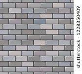 grey brick wall texture....   Shutterstock .eps vector #1228350409