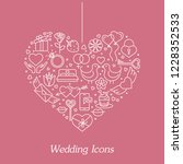 valentine's day flat line icons ... | Shutterstock .eps vector #1228352533