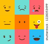 colorful square emojis set... | Shutterstock .eps vector #1228353499