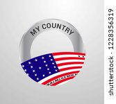 bikini atoll my country flag... | Shutterstock .eps vector #1228356319