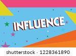 text sign showing influence....   Shutterstock . vector #1228361890