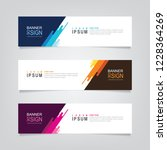 vector abstract banner design... | Shutterstock .eps vector #1228364269
