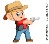 vector illustration of cute boy ... | Shutterstock .eps vector #1228365760