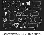 hand drawn speech bubbles ready ...   Shutterstock .eps vector #1228367896