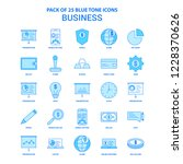 business blue tone icon pack  ... | Shutterstock .eps vector #1228370626