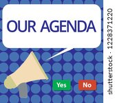 word writing text our agenda.... | Shutterstock . vector #1228371220