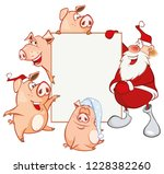 merry christmas card ... | Shutterstock .eps vector #1228382260