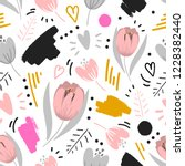 modern floral seamless pattern... | Shutterstock .eps vector #1228382440