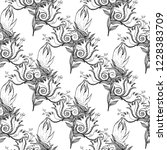 flower doodles seamless pattern.... | Shutterstock .eps vector #1228383709