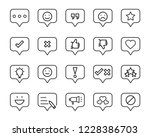 set of feedback line icons ... | Shutterstock .eps vector #1228386703