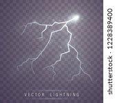 lightning flash bolt. lightning ... | Shutterstock .eps vector #1228389400