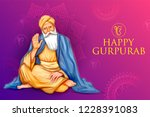 illustration of happy gurpurab  ... | Shutterstock .eps vector #1228391083