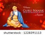 illustration of happy gurpurab  ... | Shutterstock .eps vector #1228391113