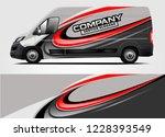 company van wrap design. ready... | Shutterstock .eps vector #1228393549