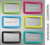 frame labels | Shutterstock .eps vector #122839696