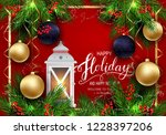 holidays greeting card for... | Shutterstock .eps vector #1228397206