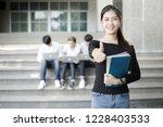 group of happy teen high school ... | Shutterstock . vector #1228403533