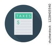 document  bill  sheet  | Shutterstock .eps vector #1228405540
