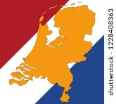netherlands map and netherlands ... | Shutterstock .eps vector #1228408363