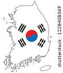 south korea map and south korea ... | Shutterstock .eps vector #1228408369