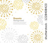 gold and bright firework on...   Shutterstock .eps vector #1228408423