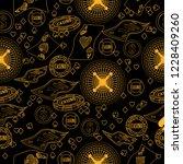 casino. line illustration for... | Shutterstock .eps vector #1228409260