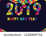 happy chinese new year 2019... | Shutterstock .eps vector #1228409716