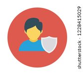 shield   secure  account  | Shutterstock .eps vector #1228415029
