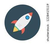 rocket   startup   launcher   | Shutterstock .eps vector #1228415119