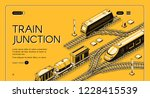 railway transport company... | Shutterstock .eps vector #1228415539