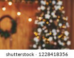 christmas tree and holiday... | Shutterstock . vector #1228418356