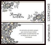 romantic wedding invitation... | Shutterstock .eps vector #1228421443
