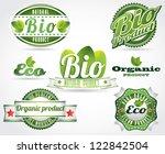 eco bio natural logos | Shutterstock .eps vector #122842504