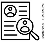resume isolated vector icon...   Shutterstock .eps vector #1228428793