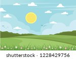 landscape vector background | Shutterstock .eps vector #1228429756