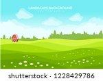 landscape vector background | Shutterstock .eps vector #1228429786