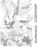 vector template with leaves and ... | Shutterstock .eps vector #1228431469