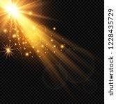 vector transparent sunlight... | Shutterstock .eps vector #1228435729