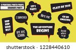 graduate party photo booth... | Shutterstock .eps vector #1228440610