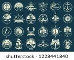 vintage monochrome maritime... | Shutterstock .eps vector #1228441840