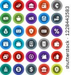 white solid icon set  bank... | Shutterstock .eps vector #1228443583