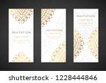 invitation templates. cover... | Shutterstock .eps vector #1228444846