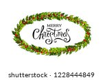 christmas decorations with... | Shutterstock .eps vector #1228444849