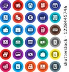 white solid icon set  credit... | Shutterstock .eps vector #1228445746