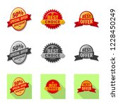 vector design of emblem and... | Shutterstock .eps vector #1228450249