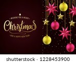 dark red background christmas... | Shutterstock .eps vector #1228453900
