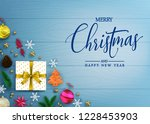 decorative merry christmas and... | Shutterstock .eps vector #1228453903